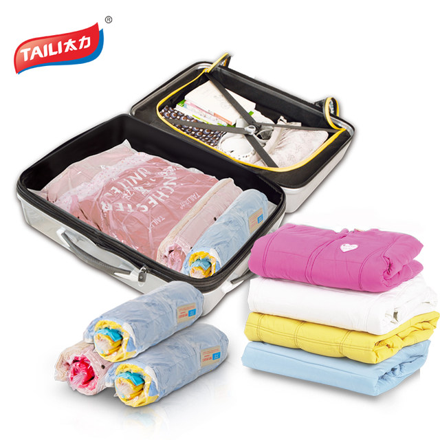 Travel Storage Bags For Clothes Vacuum Bag Luggage Organizer Wardrobe Closet No Or Pump Needed