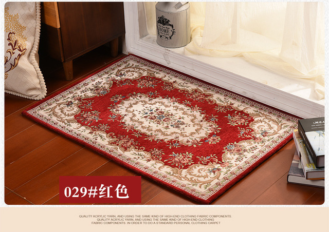 Europe Classical Jacquard Doormat Size 80*50cm Kitchen Rugs Bathroom Mats  Living Room Carpet Bedroom