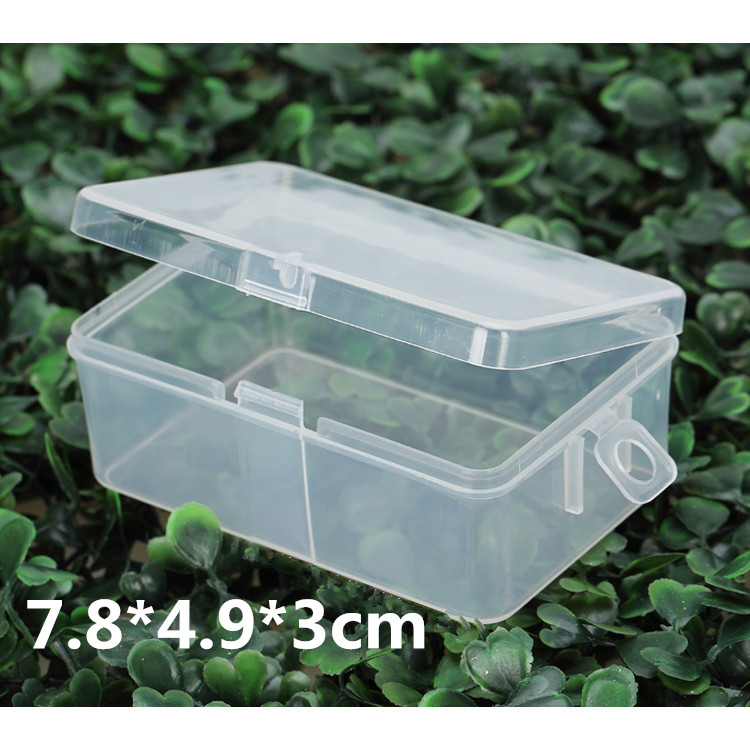 20 pcs 78*49*30mm Transparent Plastic Storage Box Clear Square Multipurpose Display Orga ...