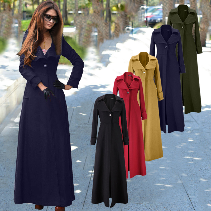 Europe and the United States womens clothing woolen cloth plus-size new winter coat cultivate ones morality fashion long coat