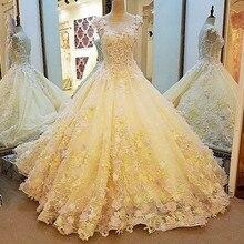 Flowers Pearls Bride Train Wedding Dresses Sexy Sleeveless