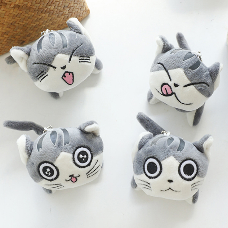 9cm Cartoon Cat Plush Toys Stuffed Animals Dolls Toys Key Ring Chain Lote Peluches Para Bebe Plush Cat Soft Toys Juguetes