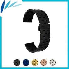 цена на Stainless Steel Watch Band 20mm 22mm for Baume & Mercier Butterfly Buckle Strap Wrist Quick Release Loop Belt Bracelet Black