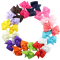 15pcs/lot Fashion baby girl hair clips ribbon bow hairpins kids hair wear children hair accessories  on sale