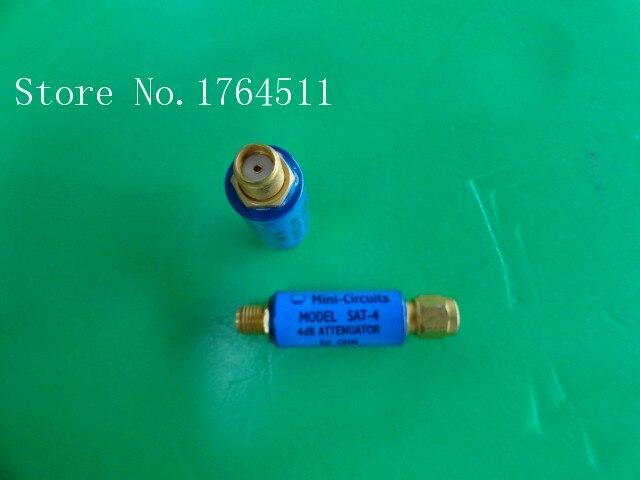 [BELLA] MINI SAT-4 DC-1.5GHz Att:4dB P:2W SMA Coaxial Fixed Attenuator  --5PCS/LOT