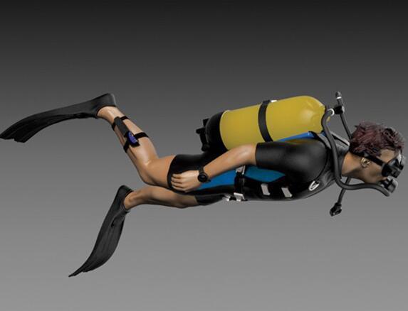 1/35 Resin Figure Diver 1pc Model Kits
