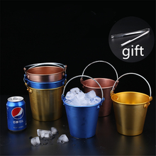 1.25L/1.75L Silver/Copper/Gold/Blue/Green Ice Bucket Stainless Steel wine ice bucket Wine Champagne Beer Chiller Barrels