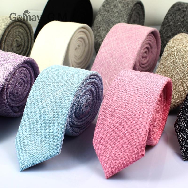 New Cotton Tie Korean Men's Necktie Classic Narrow Version 6cm Male Suit Shirt Ties Bussiness Skinny Groom Necktie Accessories