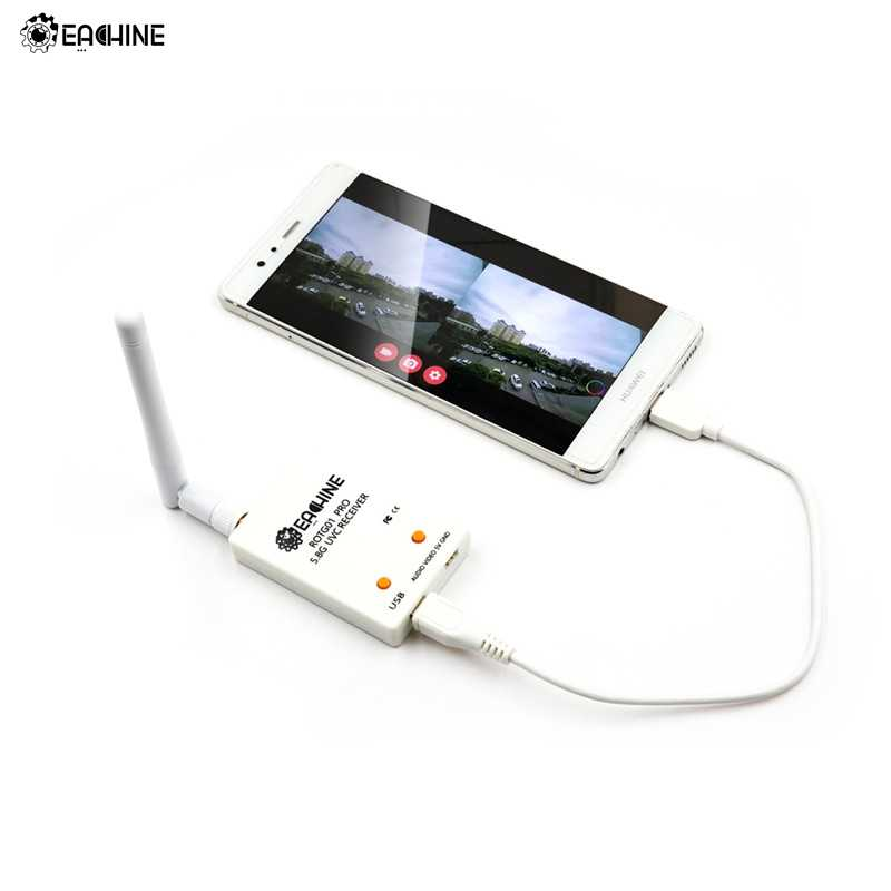 Eachine ROTG01 Pro UVC OTG 5,8G 150CH canal completo FPV receptor W/Audio para Android Smartphone