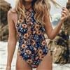 Sexy Women Florl Swimwear One Piece Swimsuit Monokini Push Up Padded Bikini Bathing GLANE