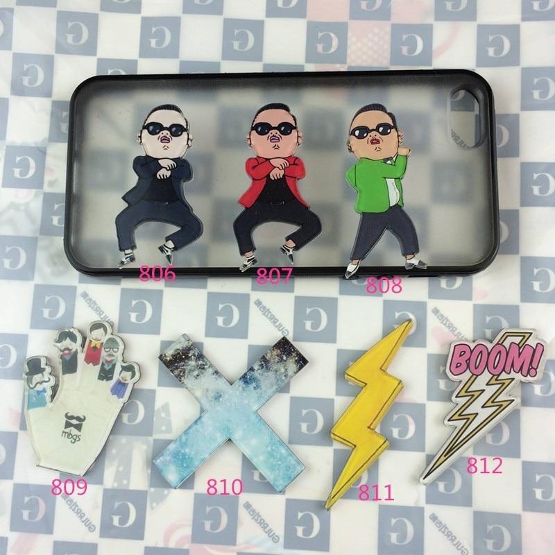 Jewelry Acrylic Badge cartoon gangnam style creative costumes Badge Collar Tips Enamel Broche XZ87