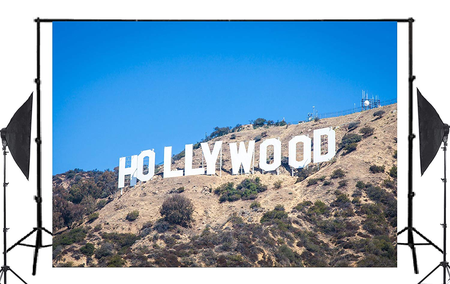 Image 2 - 7x5ft Classic Hollywood Base Photography Background landscape Backdrop Photo Studio Holiday background-in Photo Studio Accessories from Consumer Electronics
