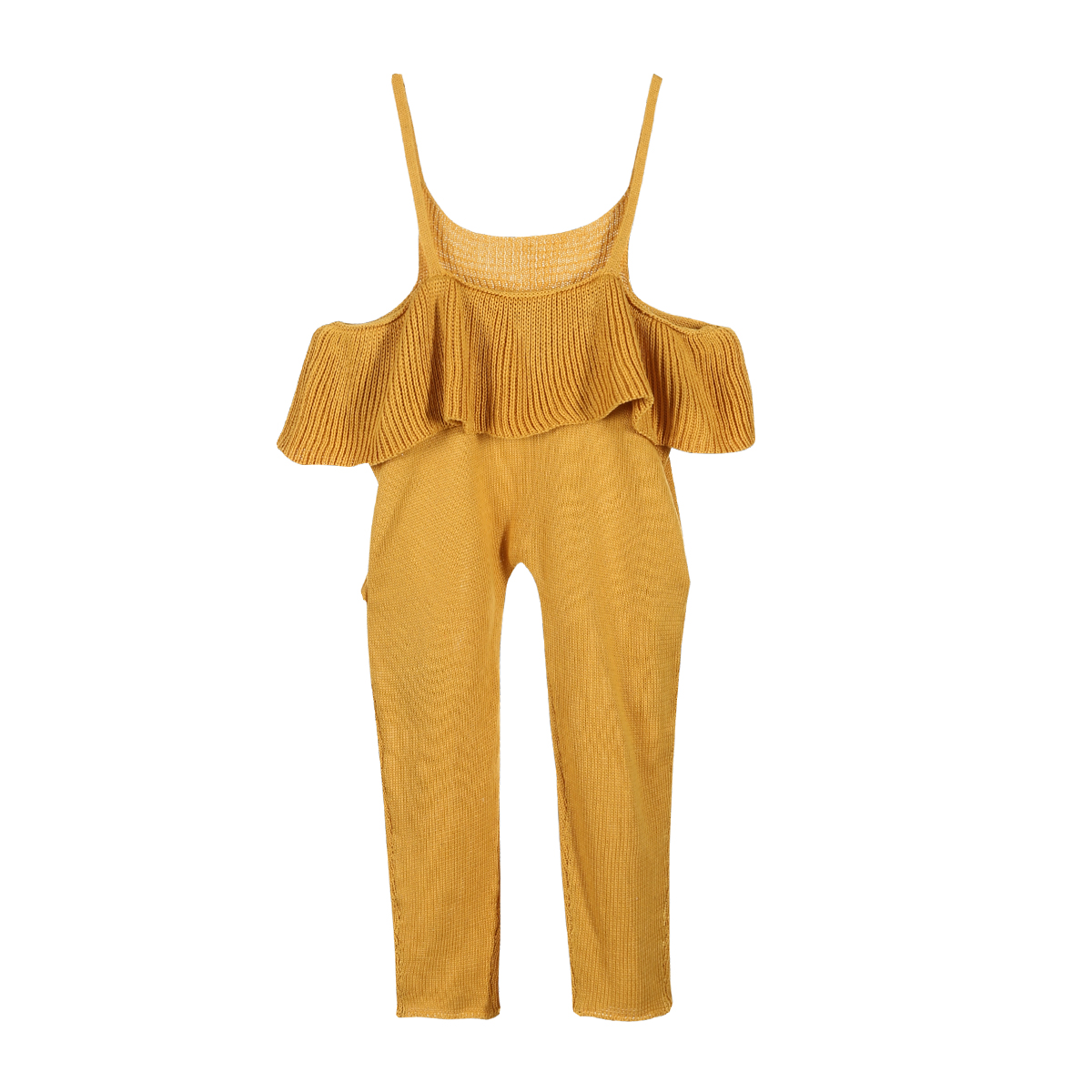 Fashion Toddle Kids Off Shoulder Sweater Sleeveless Ruffles Romper Jumpsuit Clothes Sweet Girls Winter Kintted Clothing Outfit