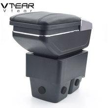 Vtear для Ford Fiesta 3 MK7 подлокотник коробка Центральная коробка для хранения держатель стакана, пепельница интерьер автомобиля-Средства для укладки аксессуары части