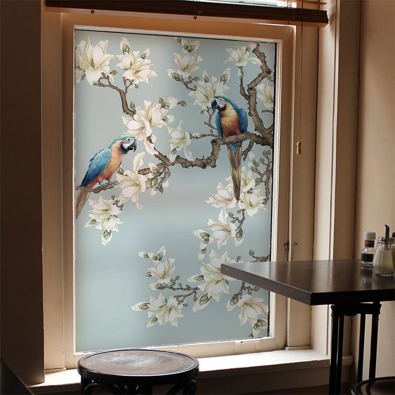 Customized size windows Glass Film Door Stickers Vintage