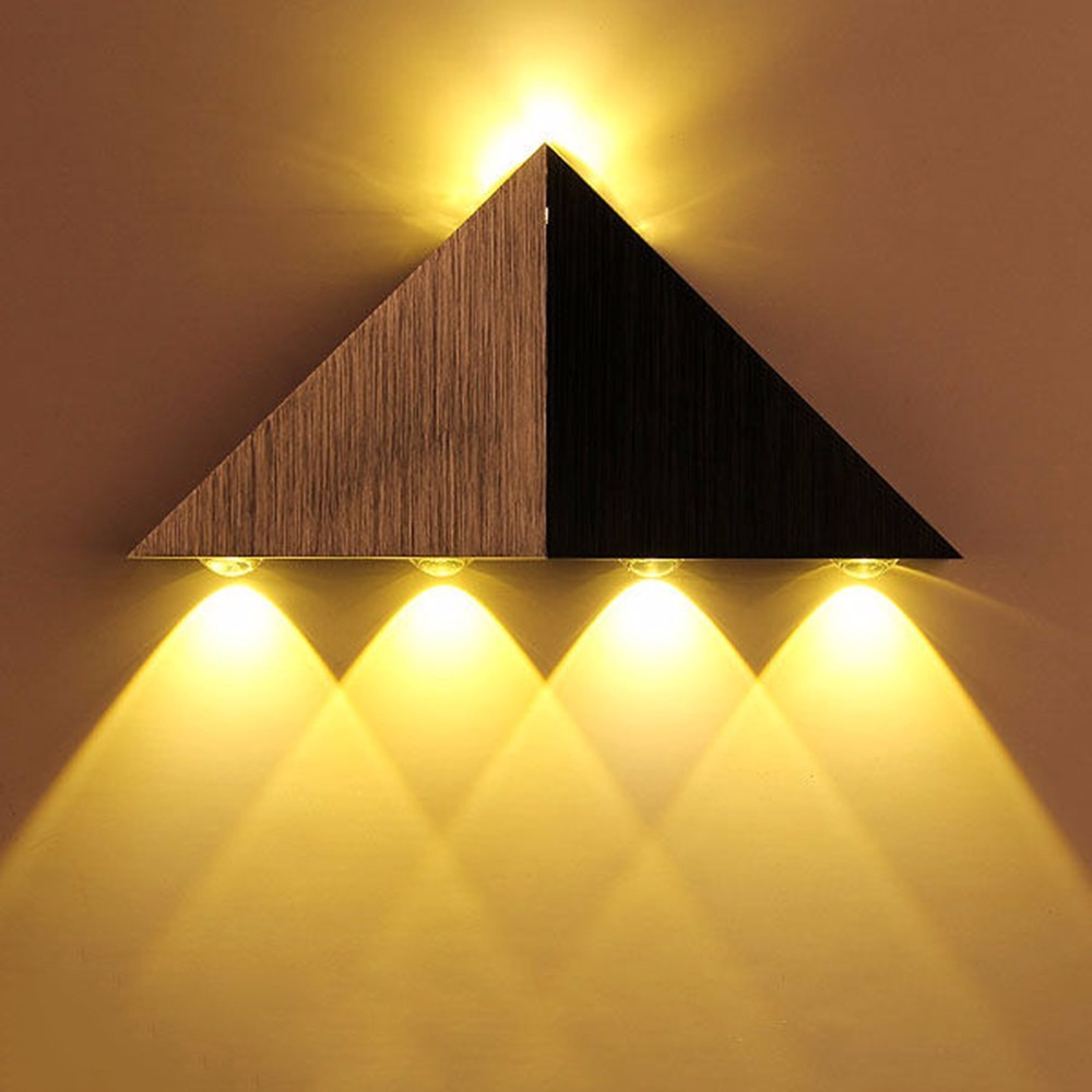Indoor Triangle Shape Aluminum 5W LED Wall Lamp Modern Decoration ...