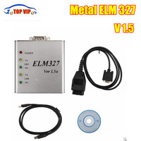 2017Newest ELM327 USB Metal V1 5a ELM 327 Metal CAN BUS Interface Code Scanner Reasonably Priced