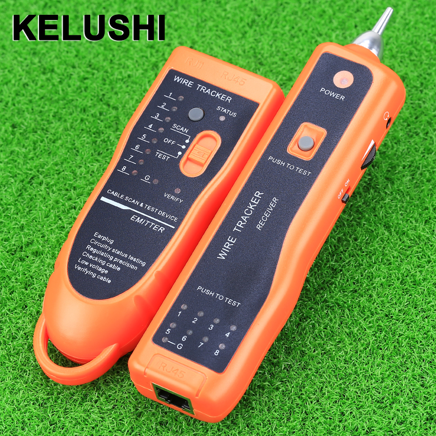 KELUSHI XQ-350 Network Lan Cable Tracker Tracer RJ45/RJ11 Finder Generator Tester Diagnose Networking Test Tools