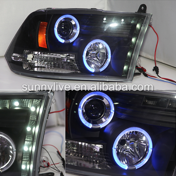 For Chrysler Dodge Ram 1500 Led Angel Eyes Headlight 2009 2015 Year