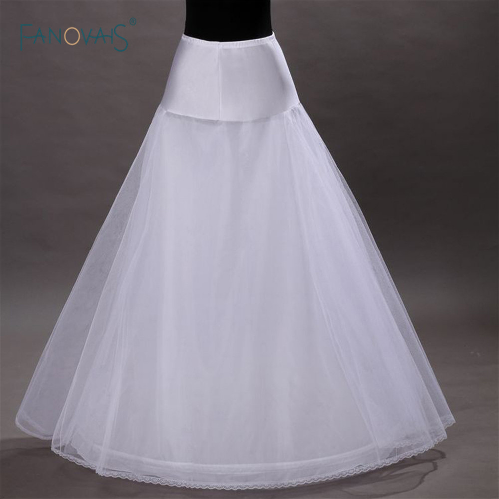 Hot Sale 1 Party Petticoat Hoop A Line Bone Petticoats For Wedding Dress In stock Low Price Wedding Skirt Accessories Slip CQ1