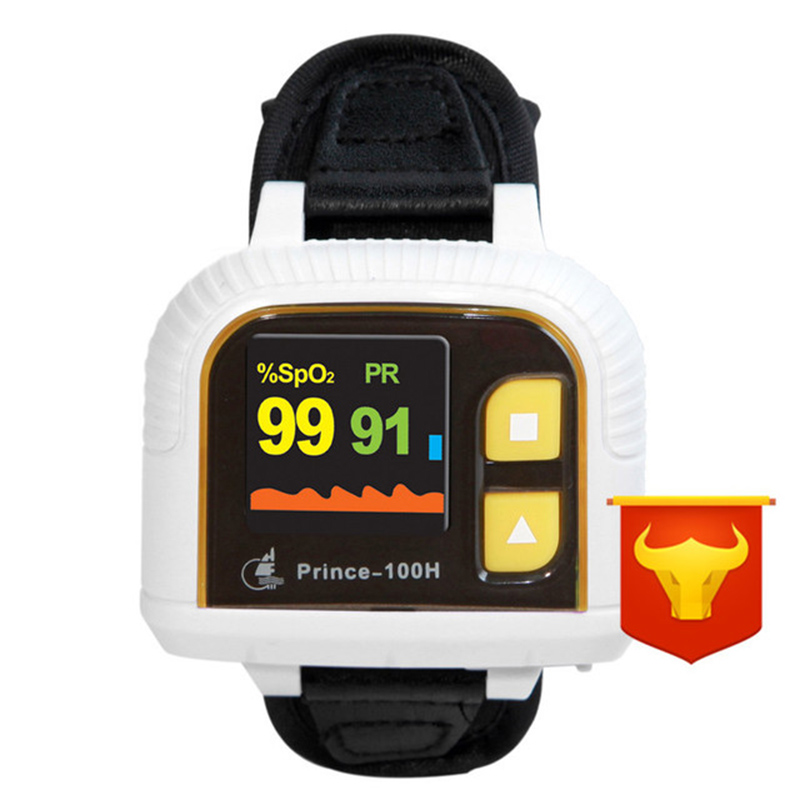Wrist Oximeter 1.1 Inch OLED Display Waveform Display Strong Anti-Interference Audible Alarm Smart Power Saving Uncharged Delive(China)