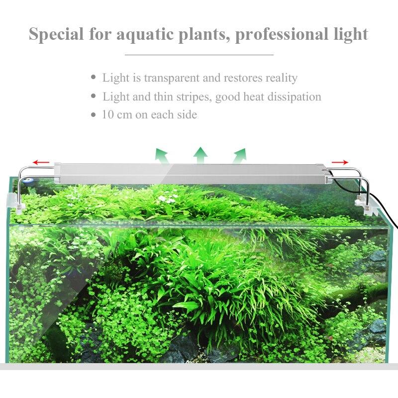 50-70CM RGB SMD 5050 lumière LED pour aquarium ing Clip de support extensible sur lumière LED Marine pour lampe de réservoir de poisson pour lumière LED pour aquarium - 5