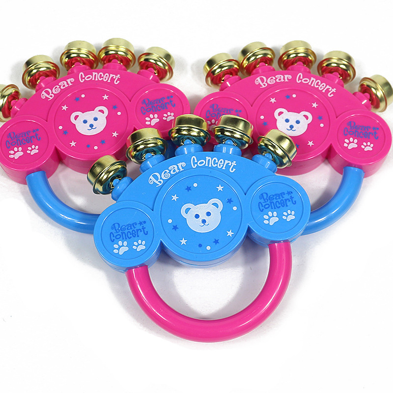 New cartoon baby rattle toy rattles metal bells crisp bell sound baby rattle toys