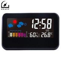 Голос Звук Управление Цифровая метеостанция Термометр-Гигрометр Температура будильник LED Дисплей Smart Календари Подсветка