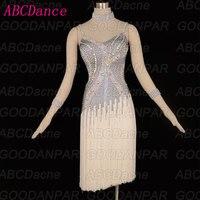 ABCDance Latin dance dress Sling Fringed Backless ChaCha Rumba Samba Tango dancewear for women ballroom dance clothes