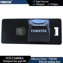 FUWAYDA malam vison LED Colorcar Rear view kamera membalikkan Kamera auto untuk AUDI A1 A4 HD CCD (B8) A5 S5 Q5 TT/PASSAT 5D R36