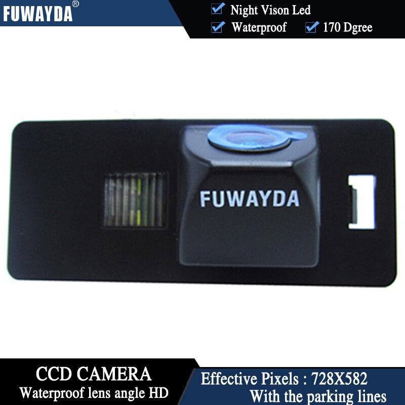 FUWAYDA Night Vison LED Colorcar Rear View Camera Reversing Camera Auto For HD CCD AUDI A1 A4 (B8) A5 S5 Q5 TT / PASSAT R36 5D