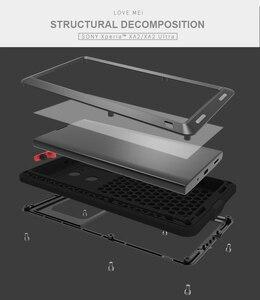 Image 5 - Pour SONY Xperia XA2/XA2 Ultra coque LOVE MEI résistant aux chocs et à la saleté coque de téléphone en métal résistant à leau pour Sony Xperia XA2