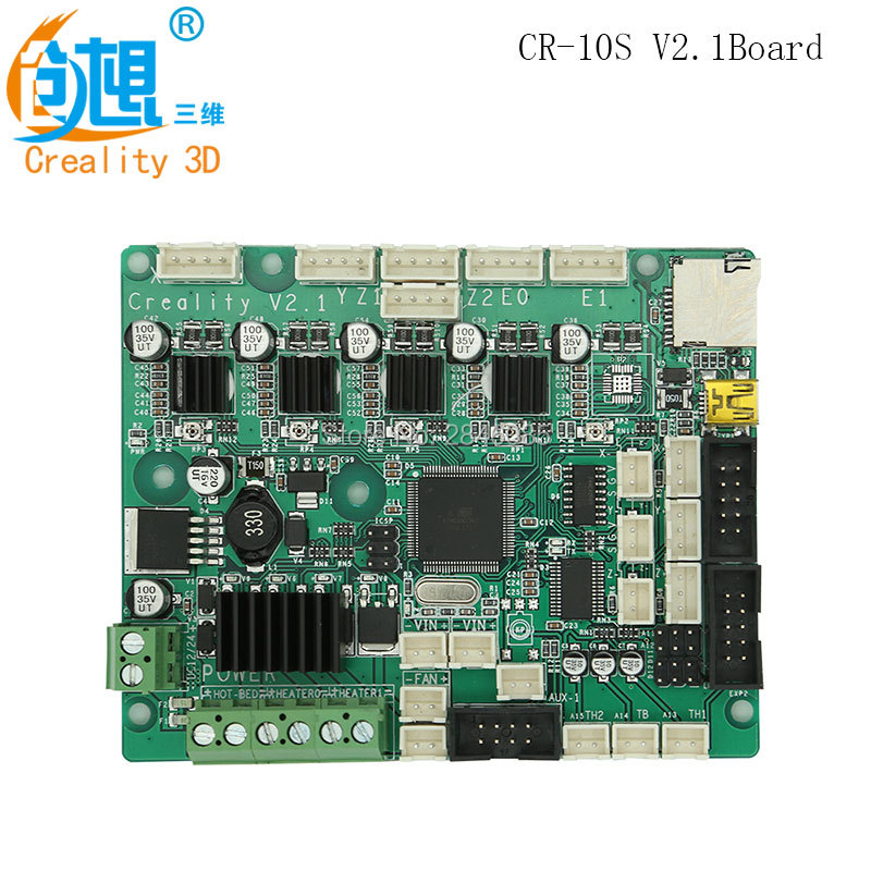 Newest Official Creality 3D Upgrade CR-10S V2.1 Mainboard/motherboard For CREALITY 3D CR-10S 3D Printer Original Supply