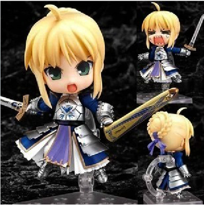 """Cute 4"""" Number Nendoroid 121 Fate Stay Night Saber Face Changable Movable PVC Action Figure Model Collection Toy 10cm KT427 1"""