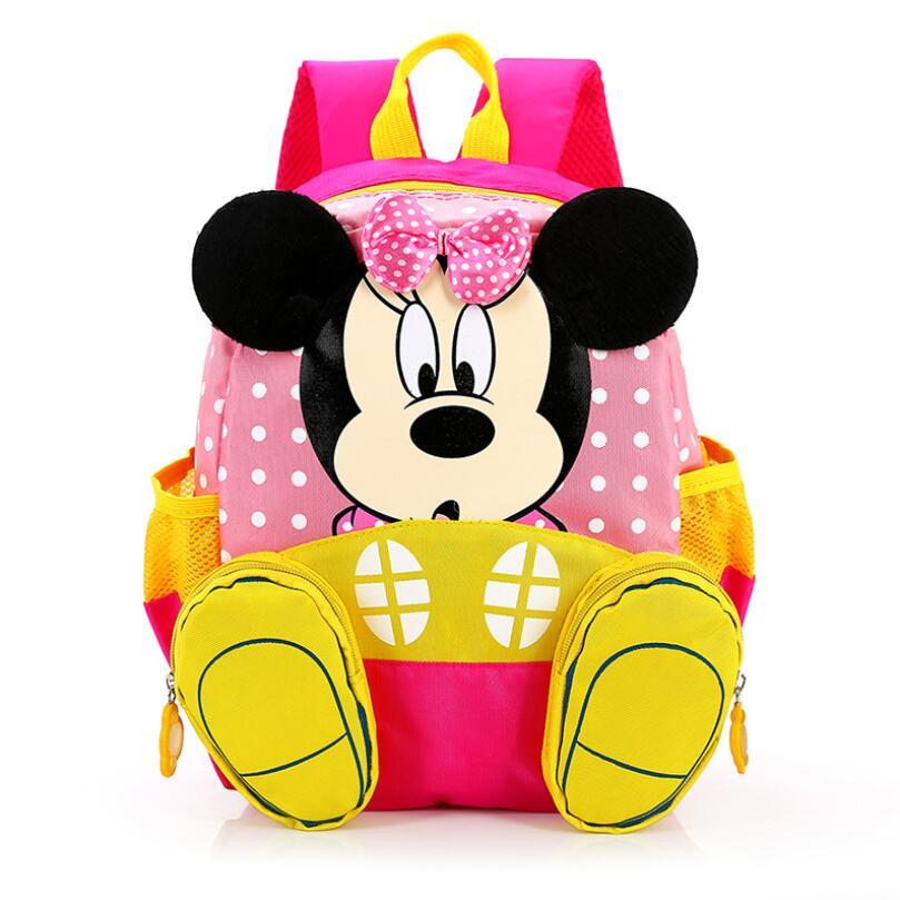 Fashion Children School Bags Cartoon Minnie Kid Bag Mickey Backpacks Kindergarten Preschool Backpack Kids Mochila nohoo toddler kids backpack 3d rocket space cartoon pre school bags children school backpacks kindergarten kids bags mochila