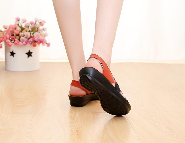 ZZPOHE Fashion Soft Bottom Sandals Women's Leather Sandals