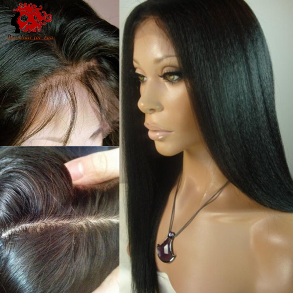 Glueless Silk Top Full Lace Wigs With Baby Hair Around Light Italian