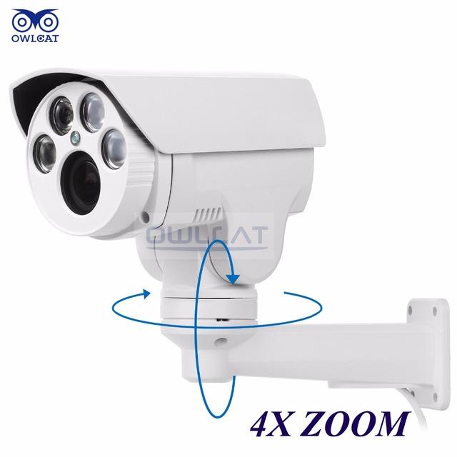 Hi3516c owlcat sony imx322 hd 1080 p câmera ip 4x zoom 2.8-12mm Varifocal 2MP Câmera IP IR cut Onvif PTZ Ao Ar Livre RTSP