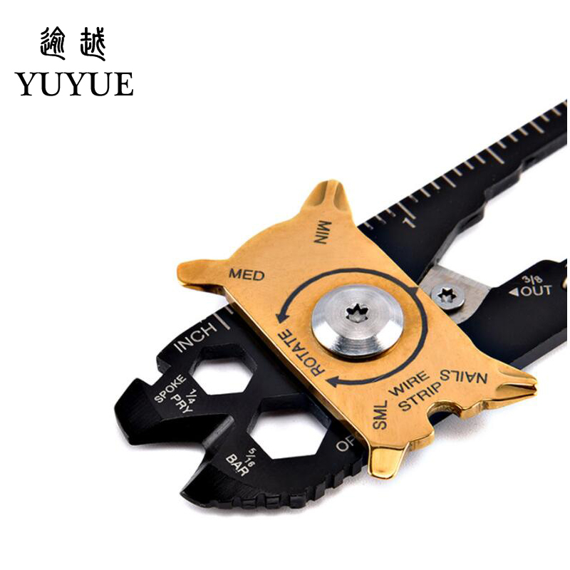2018 Hot EDC Pocket Multi Tools For Outdoor Camping Equipment Tourism Survival Knife Tool Outdoor Survival Screwdriver Cutter  5