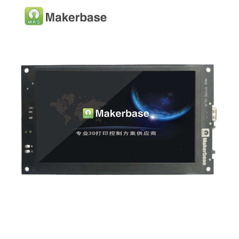 Affichage de l'imprimante 3D MKS TFT70 avec écran tactile de 7.0 pouces qui visionne le modèle gcode dans l'impression et prend en charge sept langues - 2