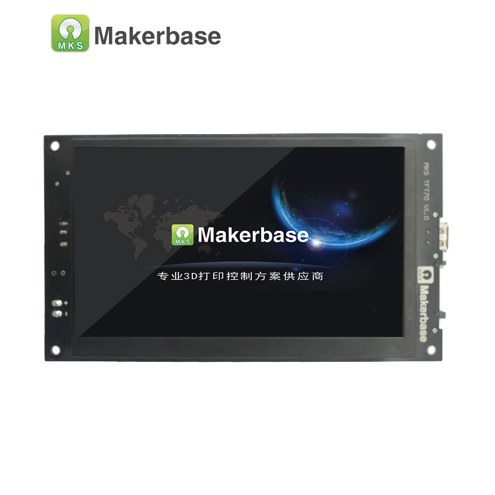 cheapest Makerbase MKS TFT70  touch screen smart display controller 3d printer parts 7 0 inch wifi wireless Control preview gcode