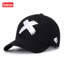 UNIKEVOW High quality Baseball Cap Unisex Sports Leisure Hats X Embroidery Sport For Men And Women Hip Hop
