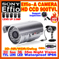 """Sale With Bracket 1/3""""Sony Ccd Effio-A 800/900TVL HD Cctv Camera Osd Surveillance Products Infrared 35m Outdoor Waterproof Ip66"""
