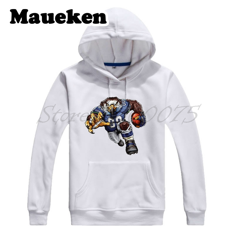 men hoodies strong sinister seahawk sweatshirts hooded thick for