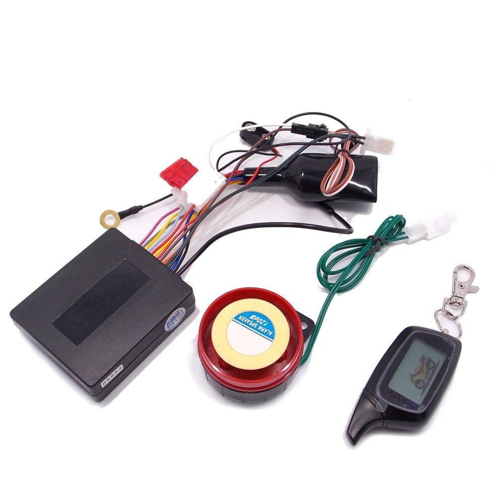 горячий продавать двухстороннее мотоцикл сигнализации,ЖК-пультов вибрации и световой сигнализации,светодиодный индикатор,междугородной дистанционного, мото аксессуары