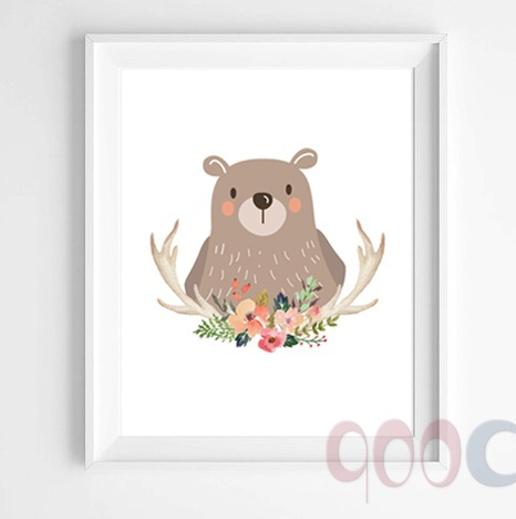 Buy Cartoon Bear Canvas Art Print Poster Wall Pictures For Home Decoration