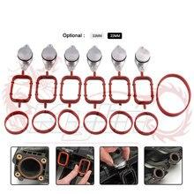 6 шт. 22/33 мм OEM дизайн алюминиевый для BMW Swirl клапаном гашения таблички печать с впускной коллектор прокладка 6 цилиндров OT277