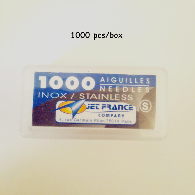 Wholesale Packaged Aiguilles Jet France High Grade Professional Loose Tattoo Needles 0.40X31 mm 1 box/lot