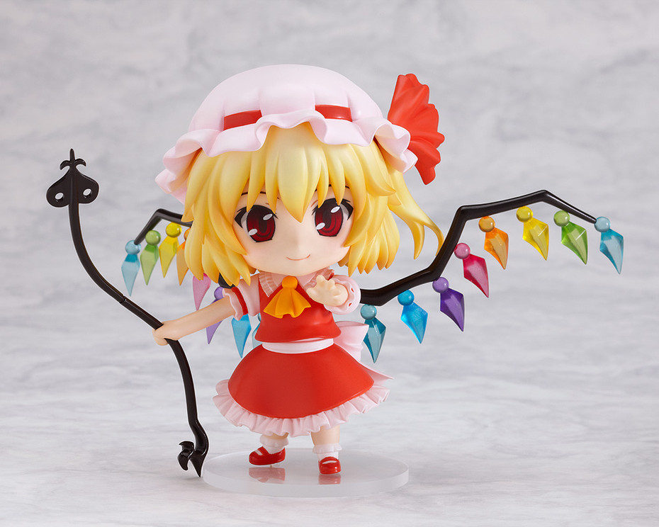 TouHou Project  Action Figure Nendoroid Flandre Scarlet PVC Figure 100mm Nendoroid 136# Anime TouHou Project  Model Toys Doll free shipping 10 touhou project anime sister of the devil flandre scarlet boxed 24cm pvc action figure collection model doll