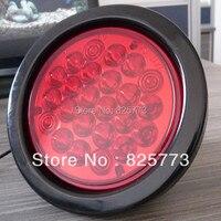 2X12 V Red Vòng Led Trailer Đèn 24 Điốt đèn Xe Tải Lorry Bus Stop Ánh Sáng Đèn Phanh Bên Ngoài Bộ đèn
